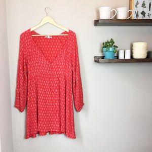 Billabong Deep V-Neck Red Dress